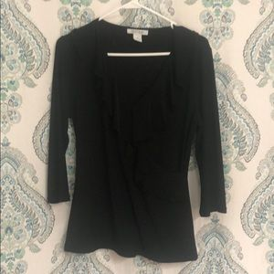 White House Black Market v neck dress top